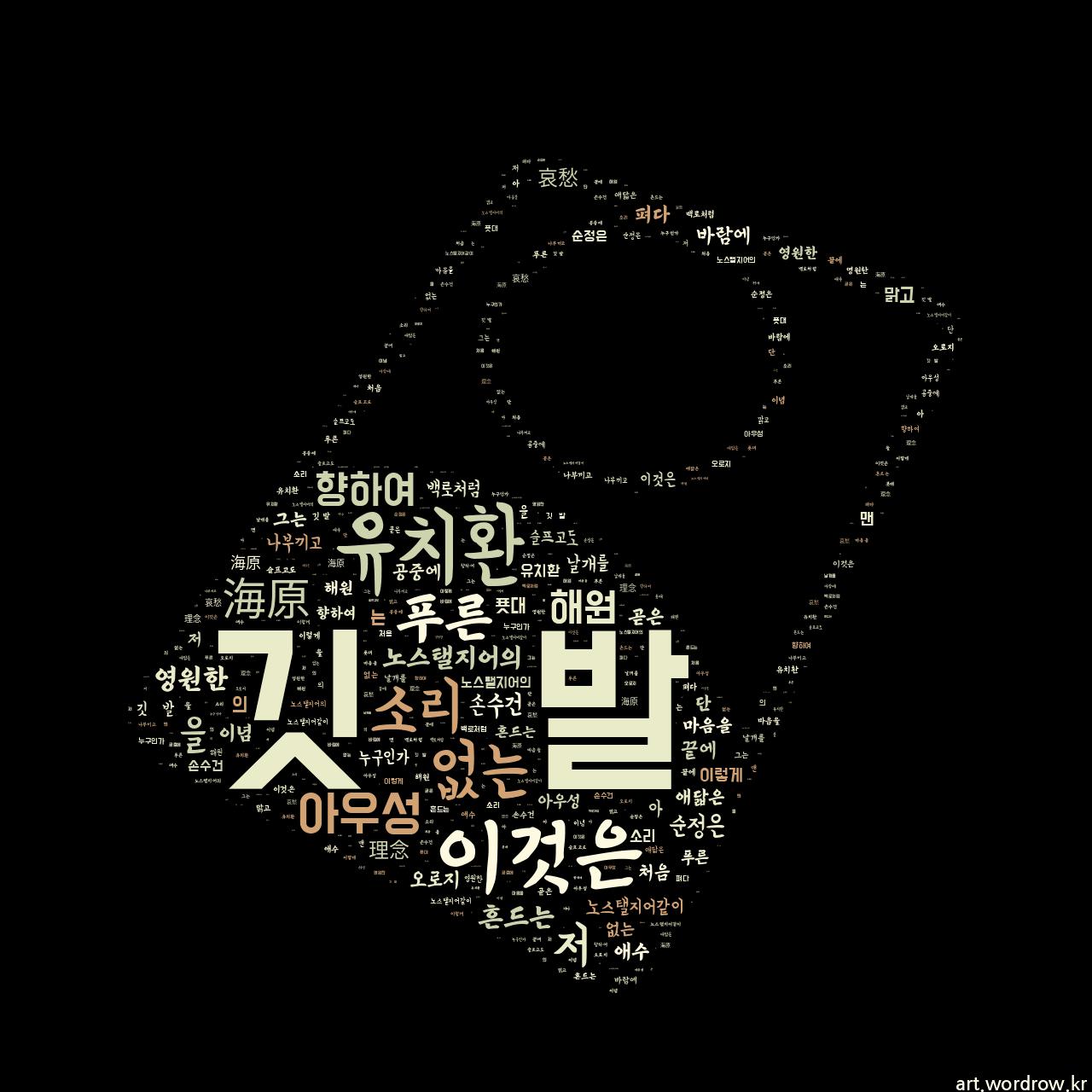워드 아트: 깃 발 [유치환]-63